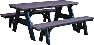DutchCrafters Outdoor Poly Furniture Heritage Picnic Table with Unattached Benches