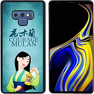 DISNEY COLLECTION Tire Phone Case Compatible with Samsung Note 9 (6.4 inch) Mulan Skid Shock Proof Protective Cover