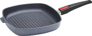 Woll - Sartén cuadrada de hierro fundido (mango extraíble, inducción, 28 x 28 cm), color negro
