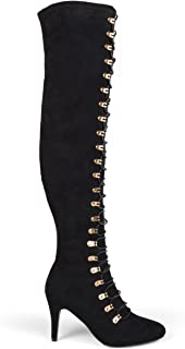 Womens Regular and Wide Calf Vintage Almond Toe Over-The-Knee Boots