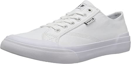 HUF Men's Classic LO ESS TX Skate Shoe, White, 5 Regular US