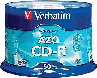 Verbatim CD-R 700MB 52X DataLifePlus with Branded Surface - 50pk Spindle - 94523