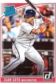 2018 Panini Donruss Baseball #280 Juan Soto Rookie Card - Rated Rookie