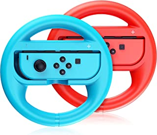 Switch Steering Wheel Compatible with Mario Kart 8 Deluxe, GH Racing Wheel Accessories Compatible with Nintendo Switch/Swi...