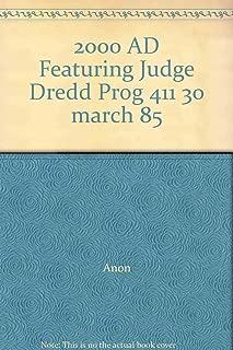 2000 AD Featuring Judge Dredd Prog 411 30 march 85