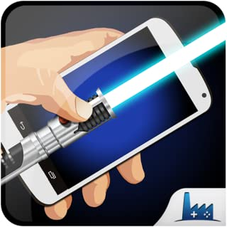 Portable lightsaber simulator