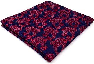 Shlax&Wing Boda Hombre La Moda Pañuelo De Bolsillo Para Rojo Cachemir 32cm