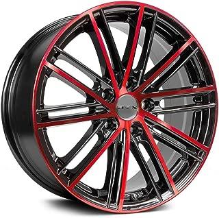 RTX Strobe 5, 17 x 7.5, 5 x 114.3, 45, 73.1, Black/RED MACHINED 081209