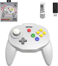 Retro-Bit Tribute64 2.4GHz Wireless Controller for N64, Switch, PC, Mac and other USB devices - Grey (Nintendo Switch//)