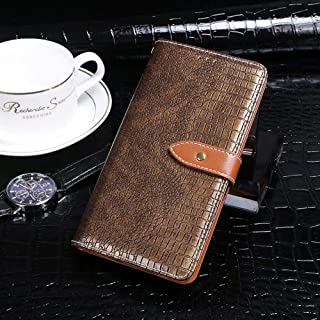 Case Compatible with Infinix S5 Pro,Leather Flip Case with Card Slot,Stand Holder and Magnetic Closure,Retro Case for Infi...