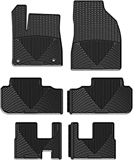 WeatherTech All-Weather Floor Mats for Toyota Highlander - 1st, 2nd, 3rd Row (Black)
