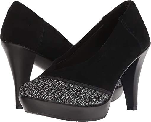 Black Shimmer Cap Toe