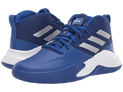 adidas Kids Own The Game Wide Basketball (Little Kid/Big Kid) (Royal/Matte Silver/Grey) Kids Shoes