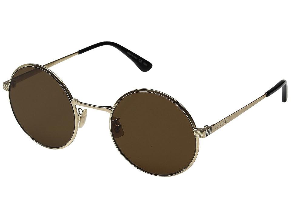 Saint Laurent SL 136 Zero (Gold/Brown) Fashion Sunglasses