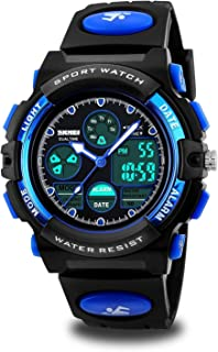 Boys Watches for Kids Age 5-13 Waterproof Sports Digital Wrist Watches with Date Day Alarm Chime Stopwatch