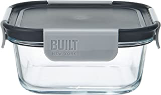 BUILT NY Gourmet Bento Glass Sandwich Container, 25-Ounce, Black