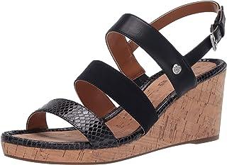 Bandolino Footwear Women's Wedge Sandal, Navy, 5.5