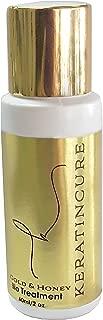 Keratin Cure Best Hair Treatment Gold & Honey Bio 2 Ounces Silky Soft Kids, Men Women, Formaldehyde Free Complex with Argan Oil Nourishing Straightening Damaged Dry Frizzy Coarse Curly Wavy Hair