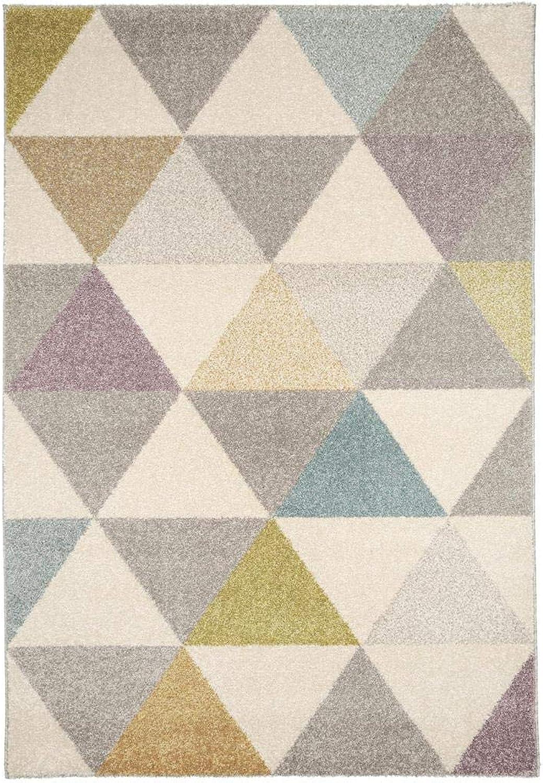 Benuta Teppich Pastel Geomet MultiFarbe 120x170 cm  Moderner Teppich für Wohn- und Schlafzimmer