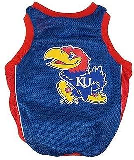 Sporty K9 Collegiate Kansas Jayhawks Dog Basketball Jersey, XX-Small