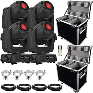 (4) Chauvet DJ Intimidator Spot 360 100 Watt Feature-Packed Moving Heads with IRC-6 Infrared Remote Control Package