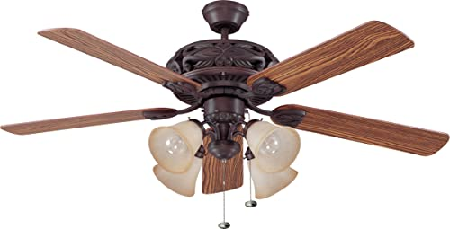 """high quality Craftmade GD52ABZ5C Grandeur Unipack Triple Mount 52"""" Ceiling Fan high quality with 240 Watts Light Kit, 5 Plywood wholesale Blades, Aged Bronze online sale"""
