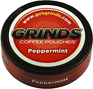 Grinds Coffee Pouches - 3 Cans - Peppermint - Tobacco Free Healthy Alternative