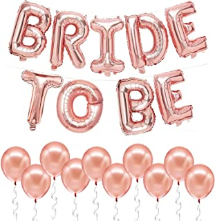 Rose Gold Bride To Be Balloons - 16 Inch | Rose Gold Foil Bride To Be Letters Banner | Bridal Shower Balloons | Bride To B...
