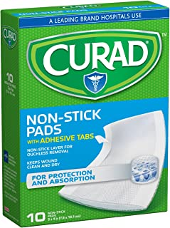Curad CUR47148NRB Medium Non-Stick Pads, 10 Count (Pack of  1)