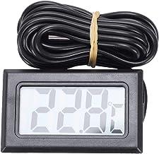 ACAMPTAR TermóMetro LCD Digital -50 Grados Celsius + 110 Grados Celsius Instrumento de MedicióN de Temperatura Indicador de Temperatura,2 M