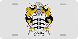 Carpe Diem Designs Acosta Coat of Arms/Acosta Family Crest License/Vanity Plate – Made in The U.S.A