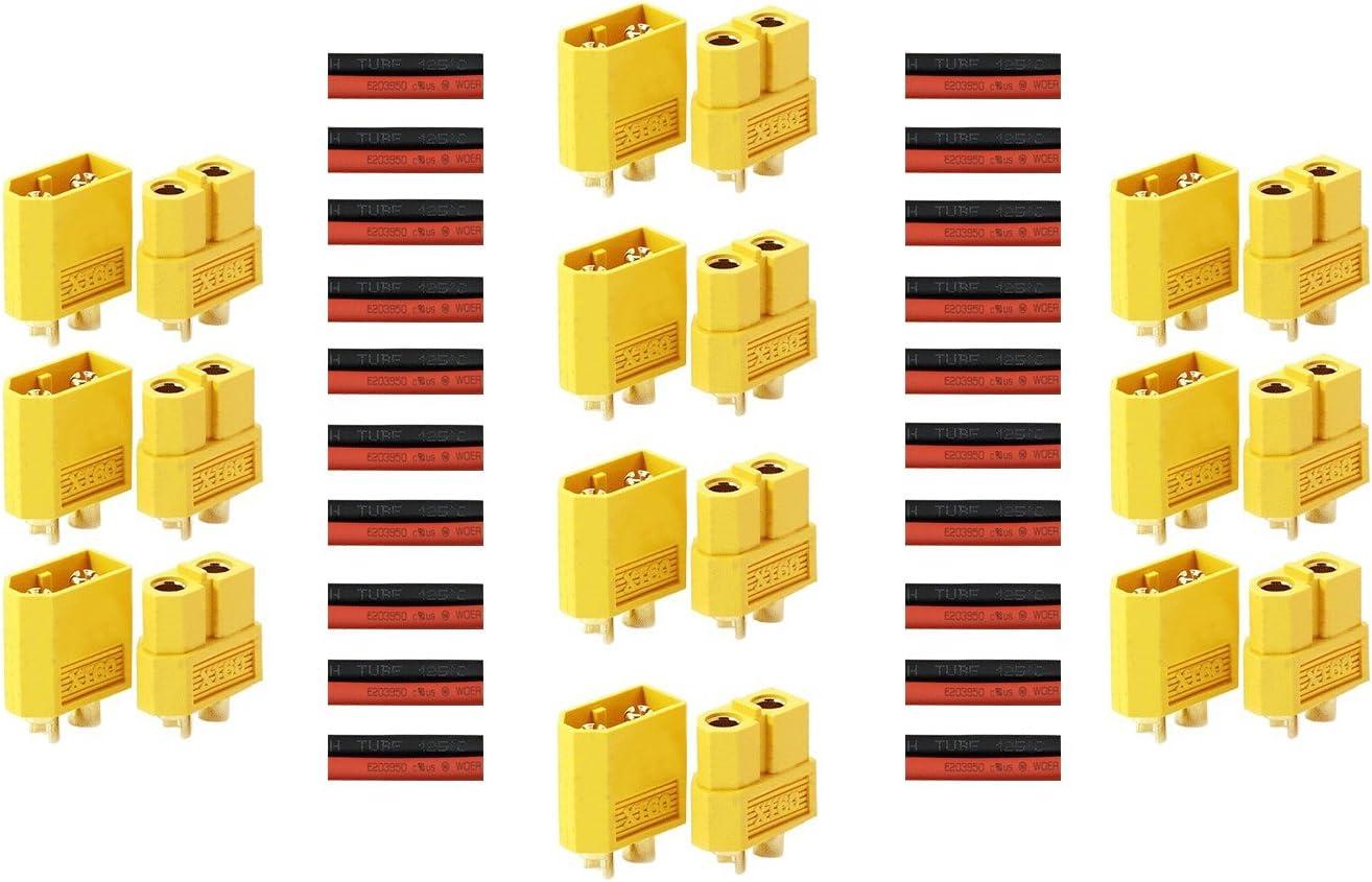 Details about  /10Pairs XT-60 XT60 Male Female Bullet Connectors RC Lipo Power Plugs Nylon US`