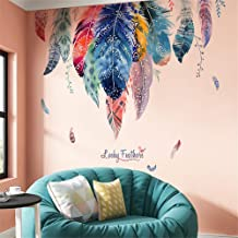 DERUN TRADING Dream Catcher Feathers Wall Decals Wall Decals Green Leaves Wall Paper Evergreen Wall Sticker Removable Decal Peel and Stick Giant Wall Decals Painterly Ivy Peel and Stick Wall Decals