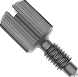 Chamfered Shoulder Style 2 Knurled High Head Captive Panel Screws Stainless Steel Slotted Drive 1//4-20 X 7//8 Long Dog Cone Point 10 pcs