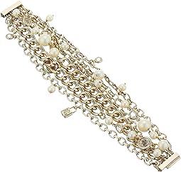 White Pearl Crest Bracelet