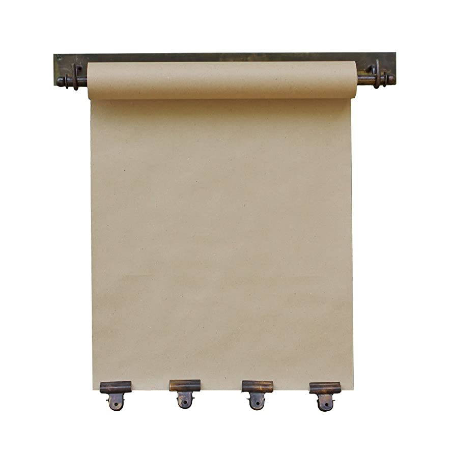 KALALOU NDE1100 HANGING NOTE ROLL WITH FOUR CLIPS IN ANTIQUE BRASS