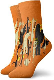 Phish Mens Work Gear Crew Socks Cotton Cushion UV Protection Basic Socks(12 Inch)