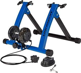Ultrasport Rodillo para Bicicleta con y Sin Cierre Rápido, Carga Máxima 100 kg, Permite Entrenar en Casa, Entrenamiento de Ciclismo Interior, Unisex, Azul