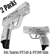 E-ONSALE Pack of 2 1.25 Inch Extra Long Grip Extensions Fits Taurus PT740 & PT709 Slim (PT709-XL/ 2PCS)