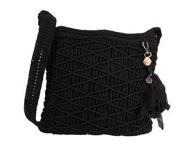 The Sak Carlisle Crochet Crossbody (Black) Handbags