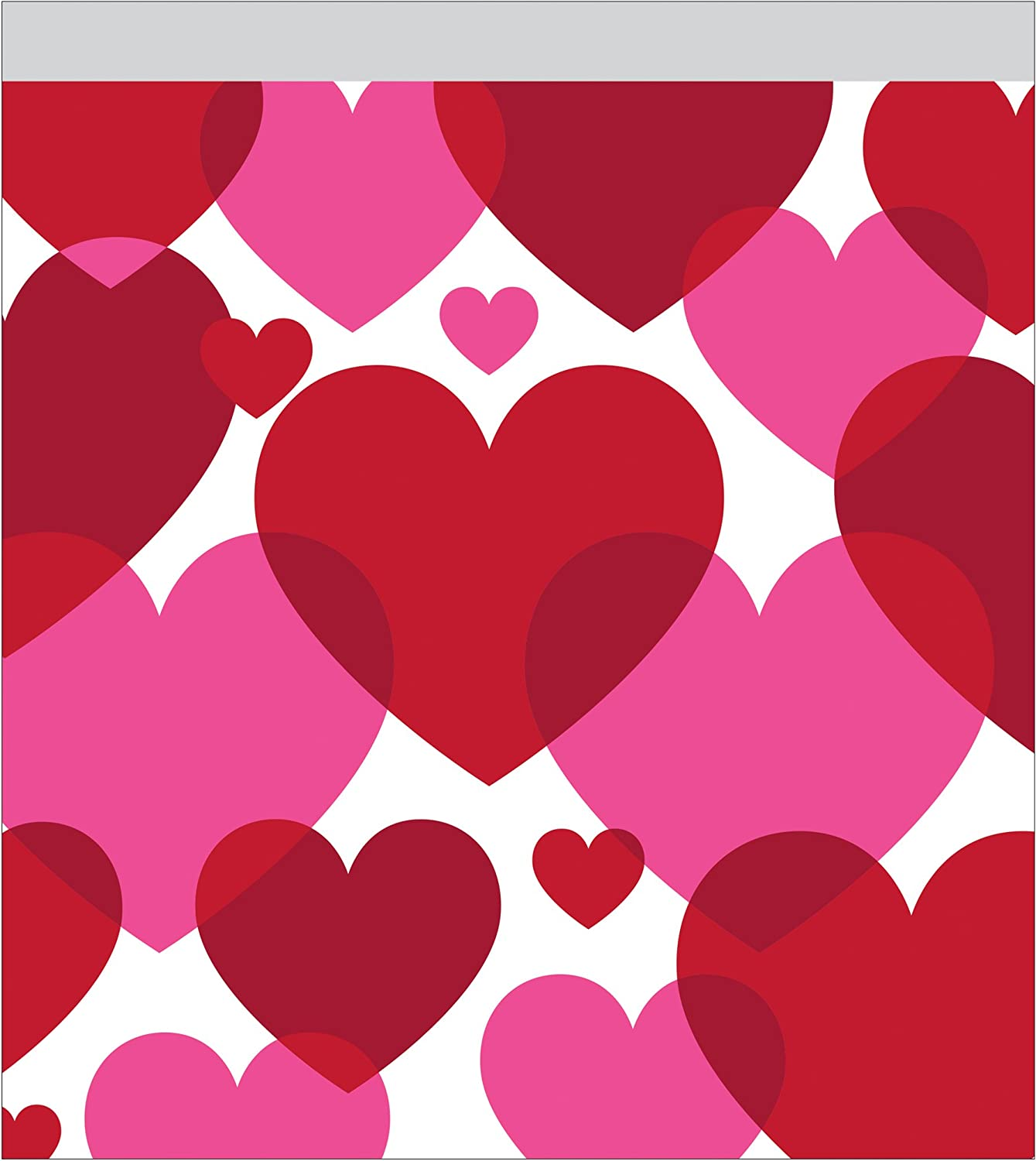 Creative Congreening 12 Count Cello Sandwich Bag, Red and Pink Hearts