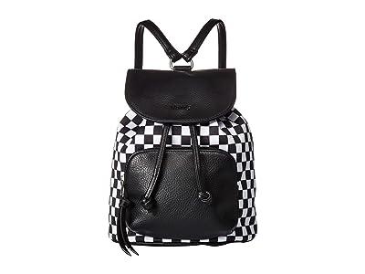 Vans Free Spirit Backpack (Black/White Checkerboard) Backpack Bags
