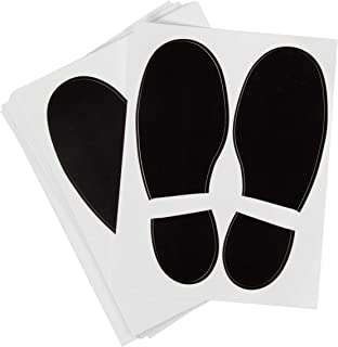 vinyl footprint floor stickers