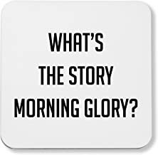 Hippowarehouse What's the story morning glory? pack of 2 coasters gloss finish durable backing 9cm x 9cm