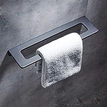 MBYW moderne minimalistische hoge dragende handdoek rek badkamer handdoekenrek Badkamer plank handdoek bar zwart handdoek ...