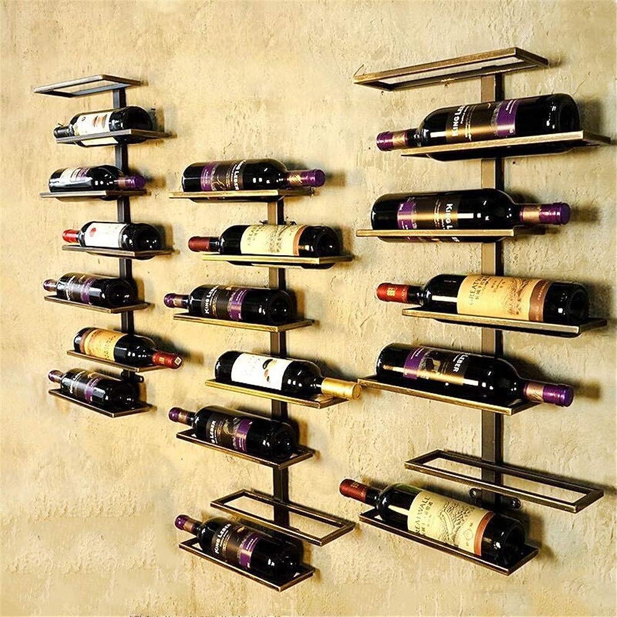 クロール野球乏しいCHUNSHENN ワイン収納 シャンパンホルダー ワインは、ベッドルーム近代的なミニマリストワインラックに適した棚やキッチンX1ラックアイアン芸術ボトルワインA壁層から7ハンギングラック(カラー:ブロンズ(7層)、サイズ:68x38x11cm...