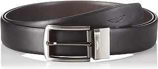 Park Avenue Men's Leather Belt (PZLX00862-X1_Multicolor_Std)