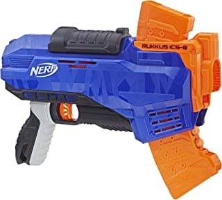 NERF Elite - Rukkus ICS-8 - Pump Action - inc 8 official Darts & Clip - Kids Toys & Outdoor Games - Ages 8+