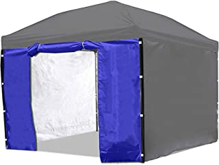 Punchau Canopy Side Wall Door - Blue Sidewall with Door for 10x10 Feet Pop Up Canopy Tent