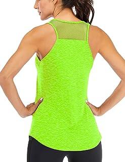 Fihapyli Women's Workout Tank Tops Breathable Mesh Backless Tank Yoga Tops